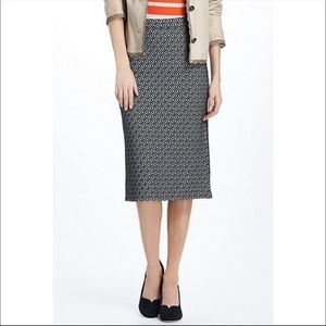 Anthropologie Maeve Intarsia Geotile Pencil Skirt